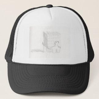box turtle cube drawing Eliana Trucker Hat
