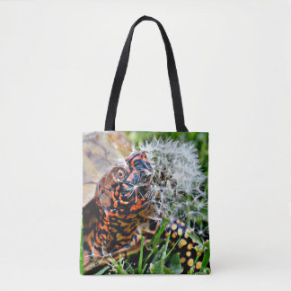 Box Turtle Dandy Lion Run In Tote Bag