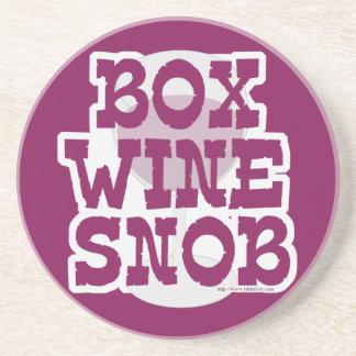 Box Wine Snob Coaster