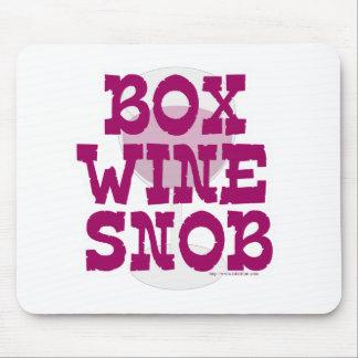 Box Wine Snob Mouse Pad