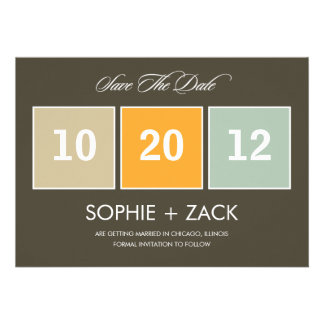 Boxed Calendar Save The Date Announcements Gray Personalized Invite