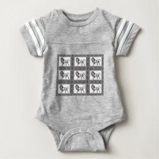 boxed lion in a frame baby bodysuit