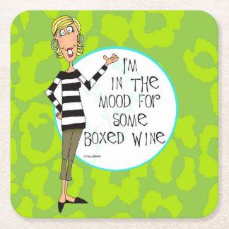 Boxed wine humor coasters
