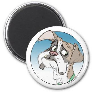 Boxer 1 6 cm round magnet