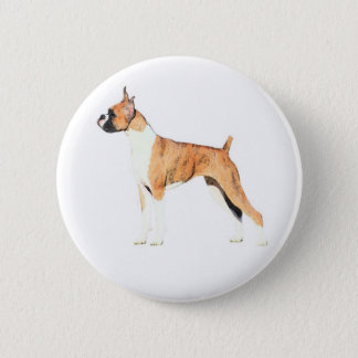 Boxer 6 Cm Round Badge