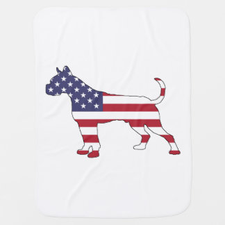 "Boxer ""American Flag"" Baby Blanket"
