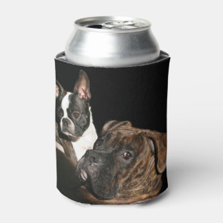 Boxer and Boston Terrier Can Cooler (Coozie)