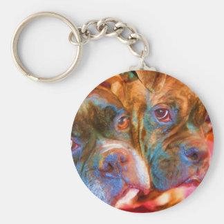Boxer Art keychain