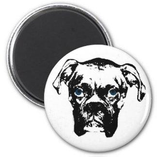 Boxer B&W Fridge Magnet