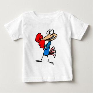 Boxer bird cartoon colorful illustration t shirt