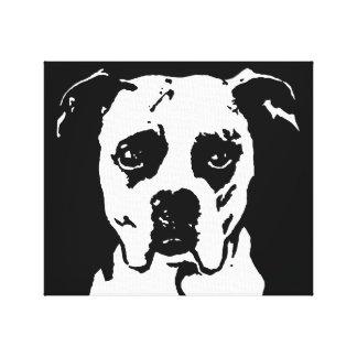 Boxer Black & White Wrapped Canvas Print Wall Art