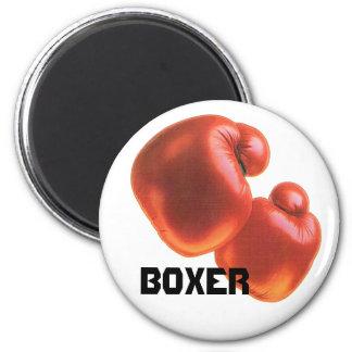 Boxer-Boxing Gloves 6 Cm Round Magnet