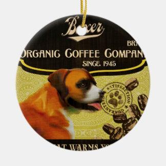 Boxer Brand – Organic Coffee Company Ceramic Ornament
