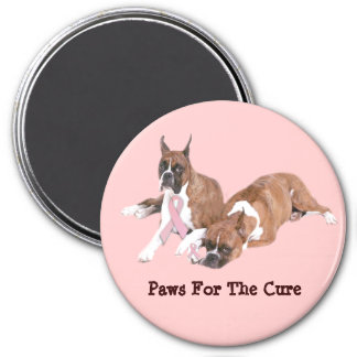Boxer Breast Cancer Magnet