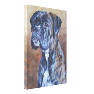 boxer brindle Fine Art on Gallery Wrapped Canvas