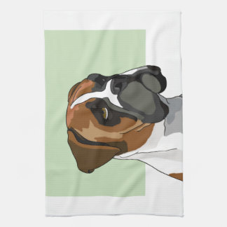 Boxer Bulldog Portrait Tea Towel