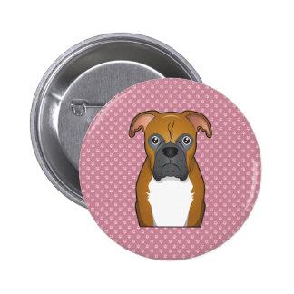 Boxer Cartoon Pin