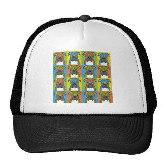 Boxer Cartoon Pop-Art Hats
