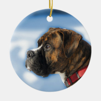 boxer ceramic ornament