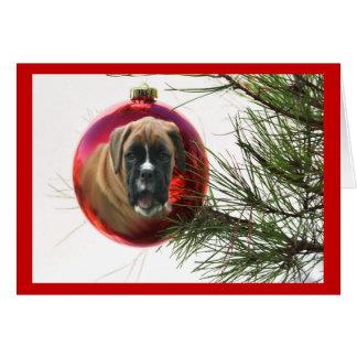 Boxer Christmas Card Ball