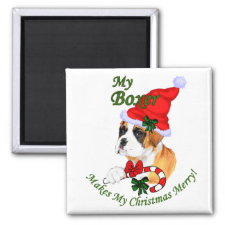 Boxer Christmas Gifts Magnet