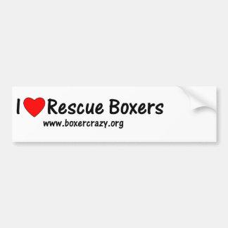 Boxer Crazy Rescue Bumper Sticker - DYO