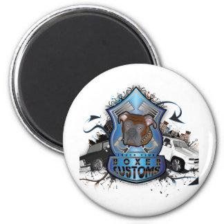 Boxer Customs 6 Cm Round Magnet
