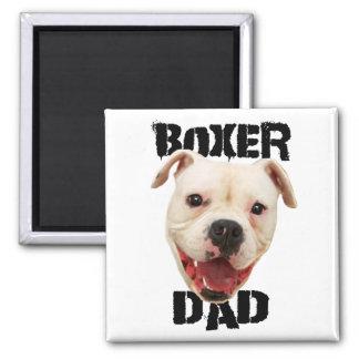 Boxer Dad dog Square Magnet