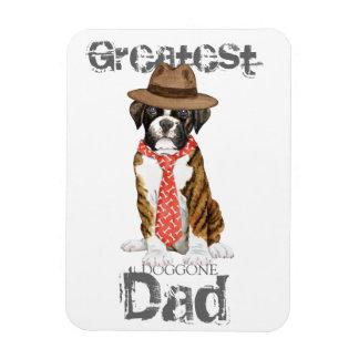 Boxer Dad Rectangular Photo Magnet