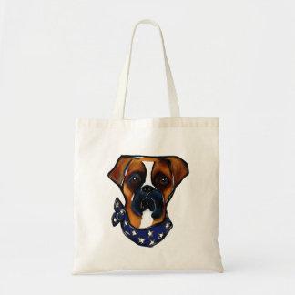 Boxer Dog 4th of July Tote Bag