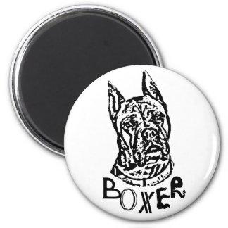 Boxer Dog 6 Cm Round Magnet
