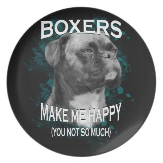 Boxer Dog Animal Lovers Art Text Plate