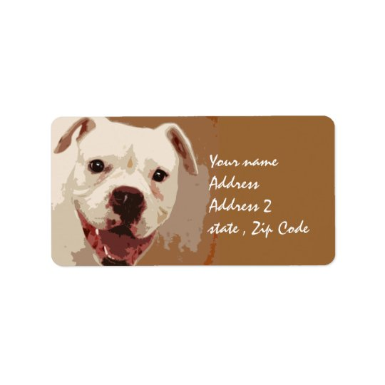 Boxer Dog Art Address Label