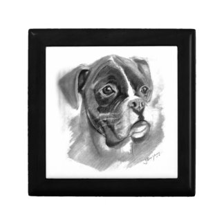 Boxer Dog Art Gift Box