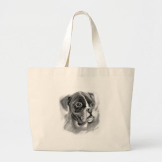 Boxer Dog Art Large Tote Bag