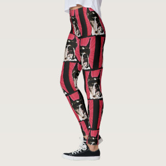 Boxer dog art leggings