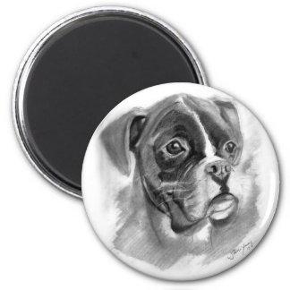 Boxer Dog Art Magnet