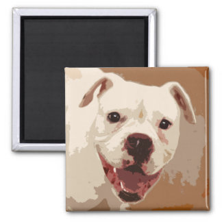 Boxer Dog Art Square Magnet