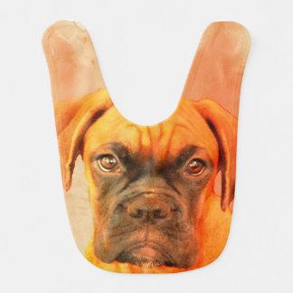 Boxer dog baby bib
