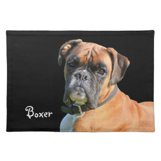 Boxer dog beautiful photo portrait custom place mats