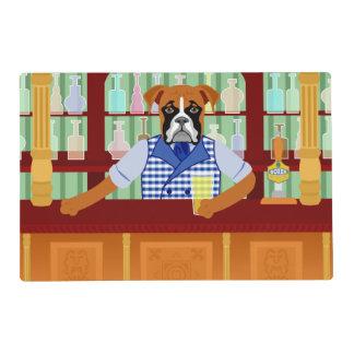 Boxer Dog Beer Pub Laminated Placemat