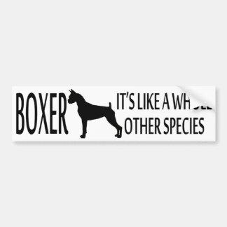 Boxer Dog Breed Bumper Sticker