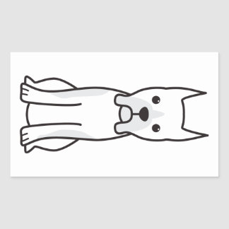 Boxer Dog Breed Cartoon Rectangular Sticker