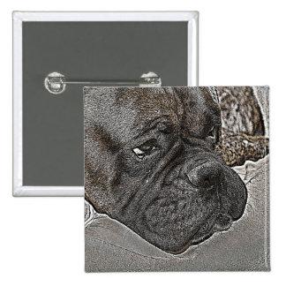 Boxer Dog Button