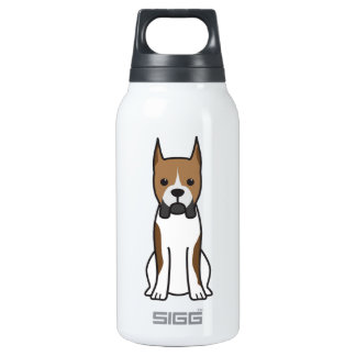 Boxer Dog Cartoon 0.3L Insulated SIGG Thermos Water Bottle