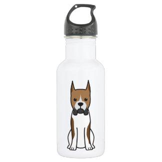 Boxer Dog Cartoon 532 Ml Water Bottle