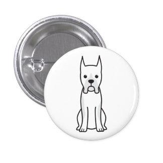 Boxer Dog Cartoon Button