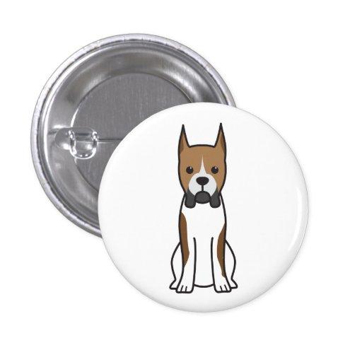 Boxer Dog Cartoon Pin