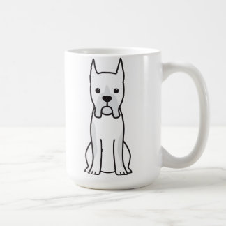 Boxer Dog Cartoon Basic White Mug