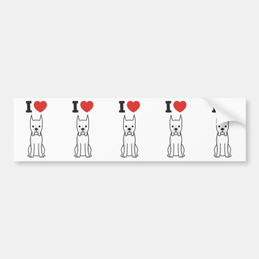 Boxer Dog Cartoon Bumper Stickers